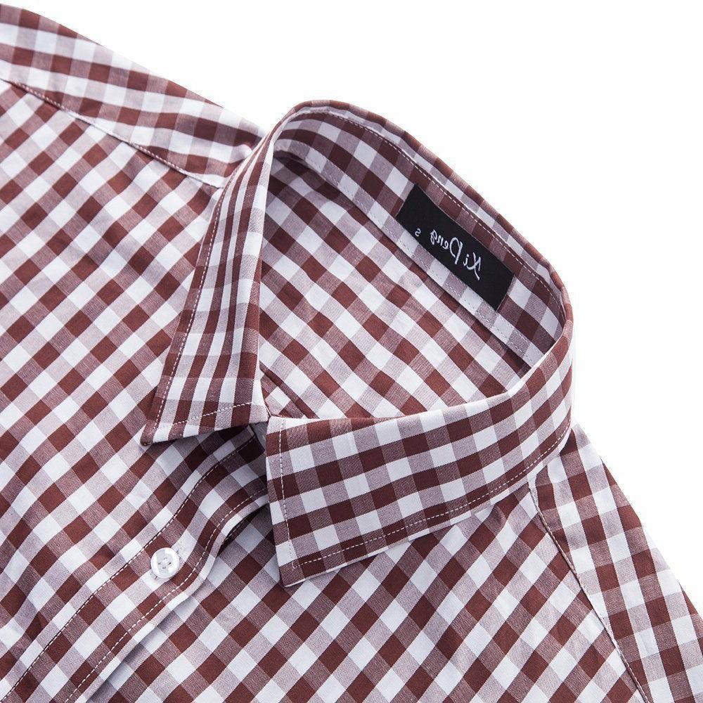XI Cotton Checkered Gingham Short