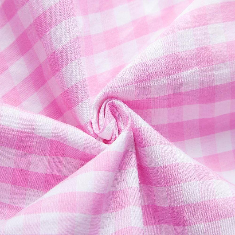 XI PENG Cotton Plaid Checkered Short