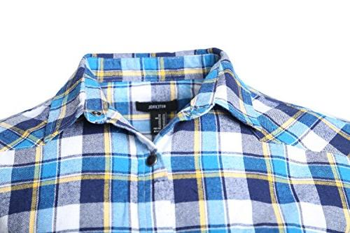 NUTEXROL Men's Plaid Shirt Sleeveless Plus Size Large Blue yellown