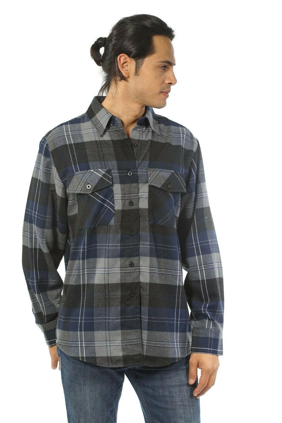 YAGO Plaid Flannel Down
