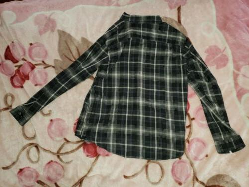 Woods Flannel Long Shirt Size