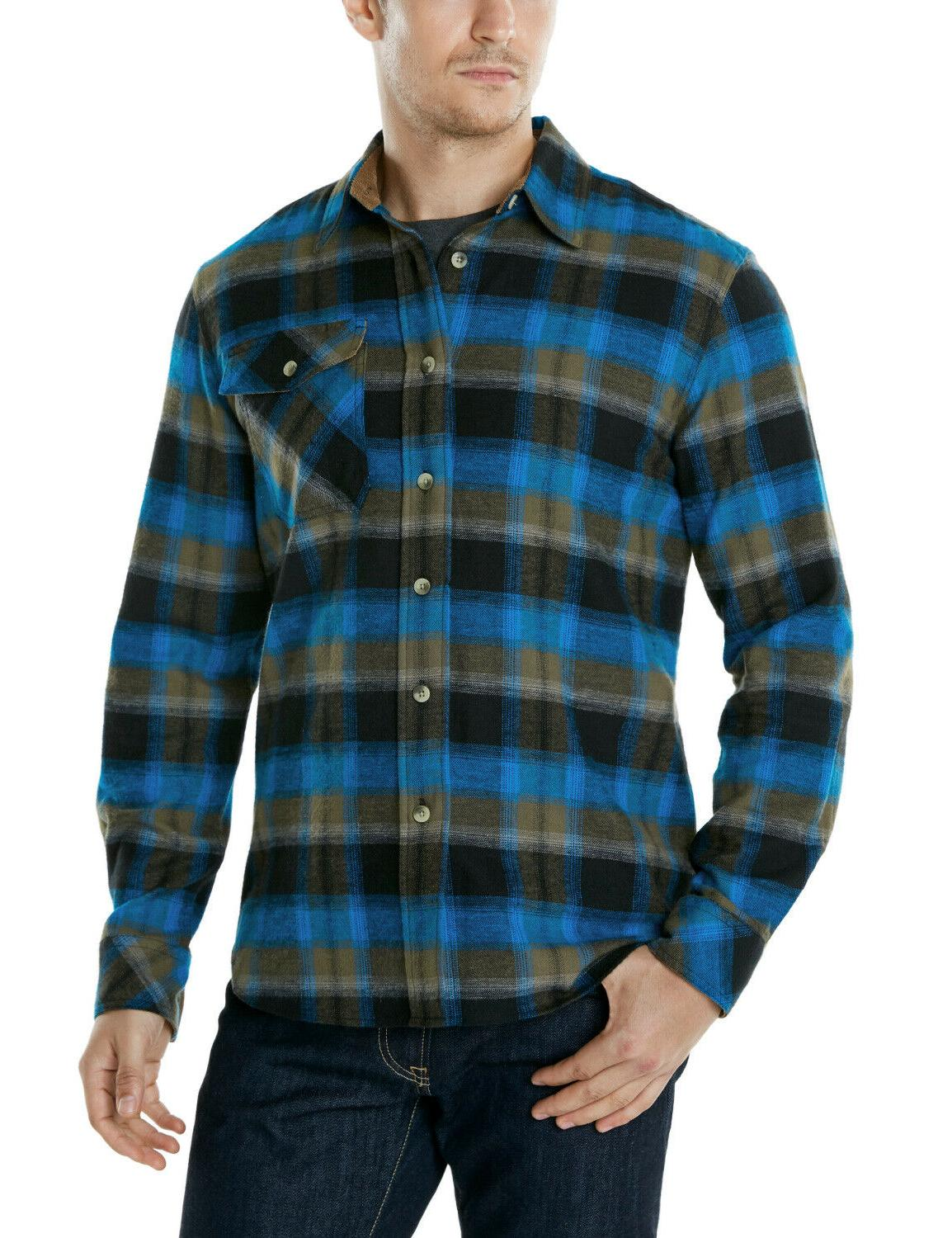 CQR Men's Shirt, Sleeve Shirt, Brushed Outdoor