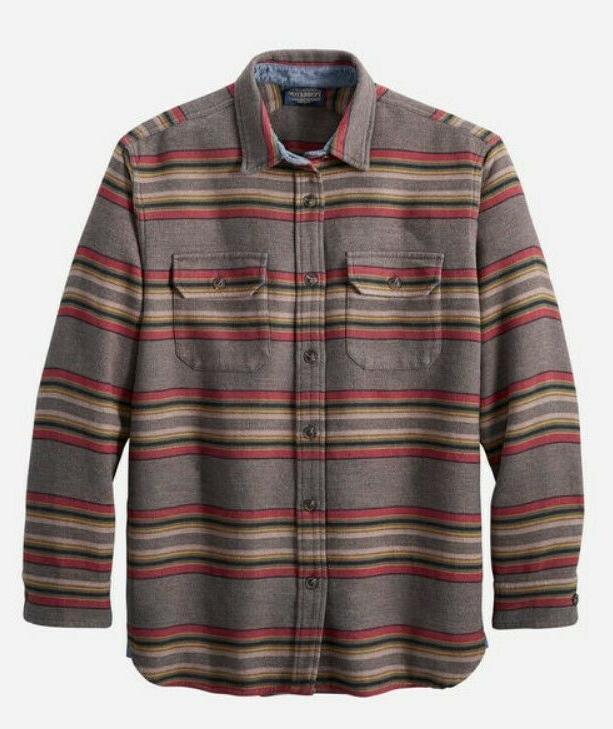 men s doublesoft flannel driftwood shirt new