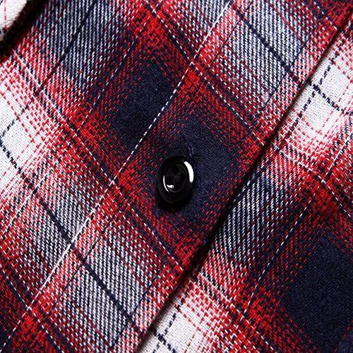 XI PENG Dress Long Thermal Plaid Checkered