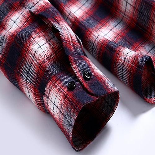 XI PENG Men's Dress Long Sleeve Thermal