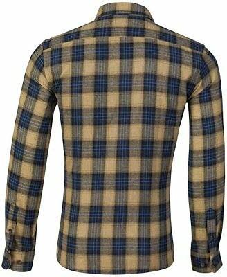 XI Men's Long Checkered Flannel