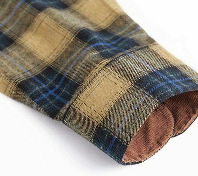 XI PENG Long Sleeve Checkered Flannel