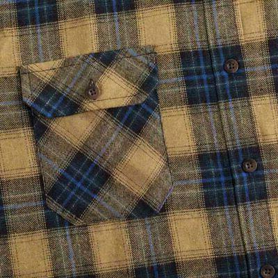 XI PENG Men's Dress Long Plaid Checkered