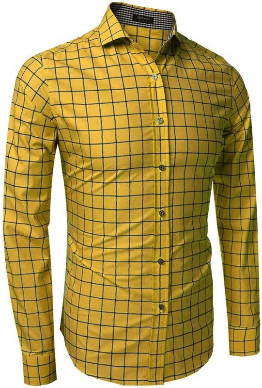 COOFANDY Men's Fashion Long Sleeve Shirts Casual Dress