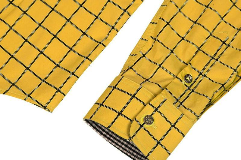 COOFANDY Men's Sleeve Plaid Button Down Shirts Dress