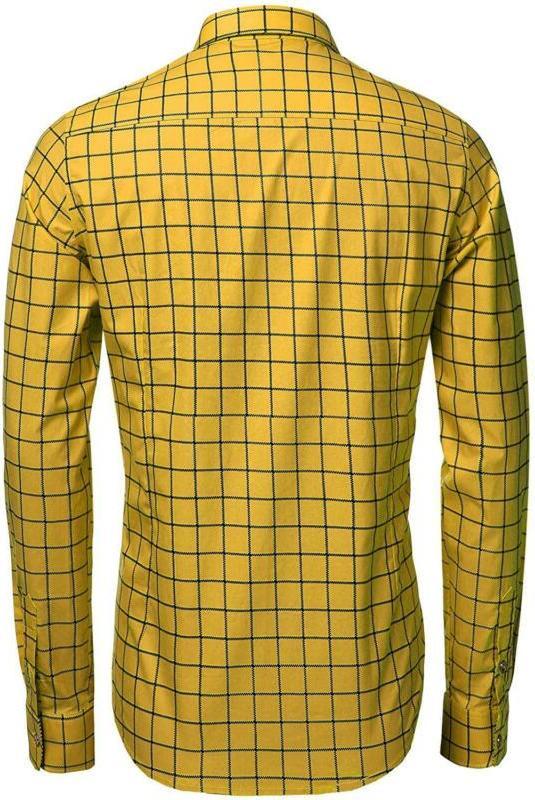 COOFANDY Men's Fashion Sleeve Plaid Button Shirts Casual Dress Shirt