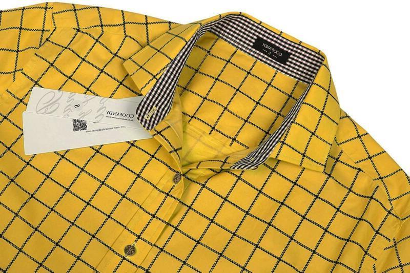 COOFANDY Sleeve Plaid Shirts