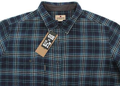 men s flannel blue plaid shirt 2xl