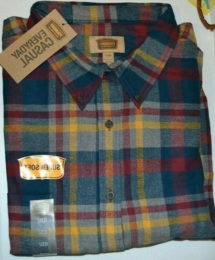 MEN'S SHIRT AND SIZE: COLOR: BLUE RED PLAID