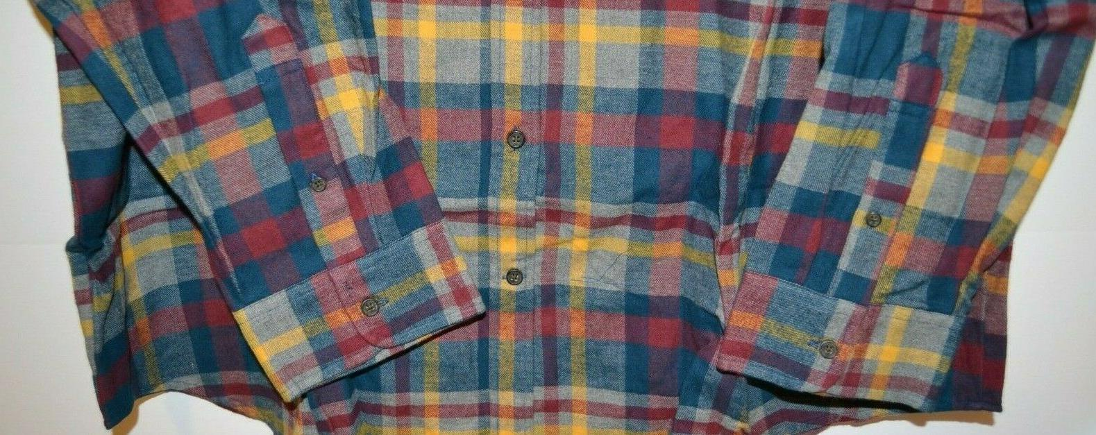 MEN'S FOUNDRY SHIRT AND TALL SIZE: 3XLT BLUE RED