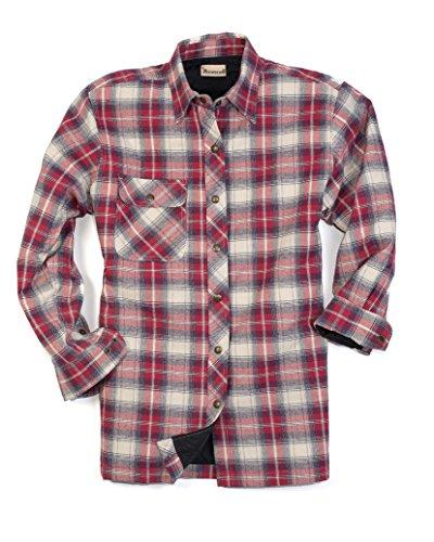 men s flannel quilt lined shirt jacket