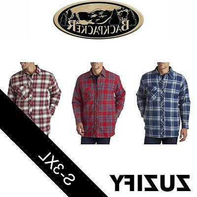 men s flannel shirt jacket with quilt