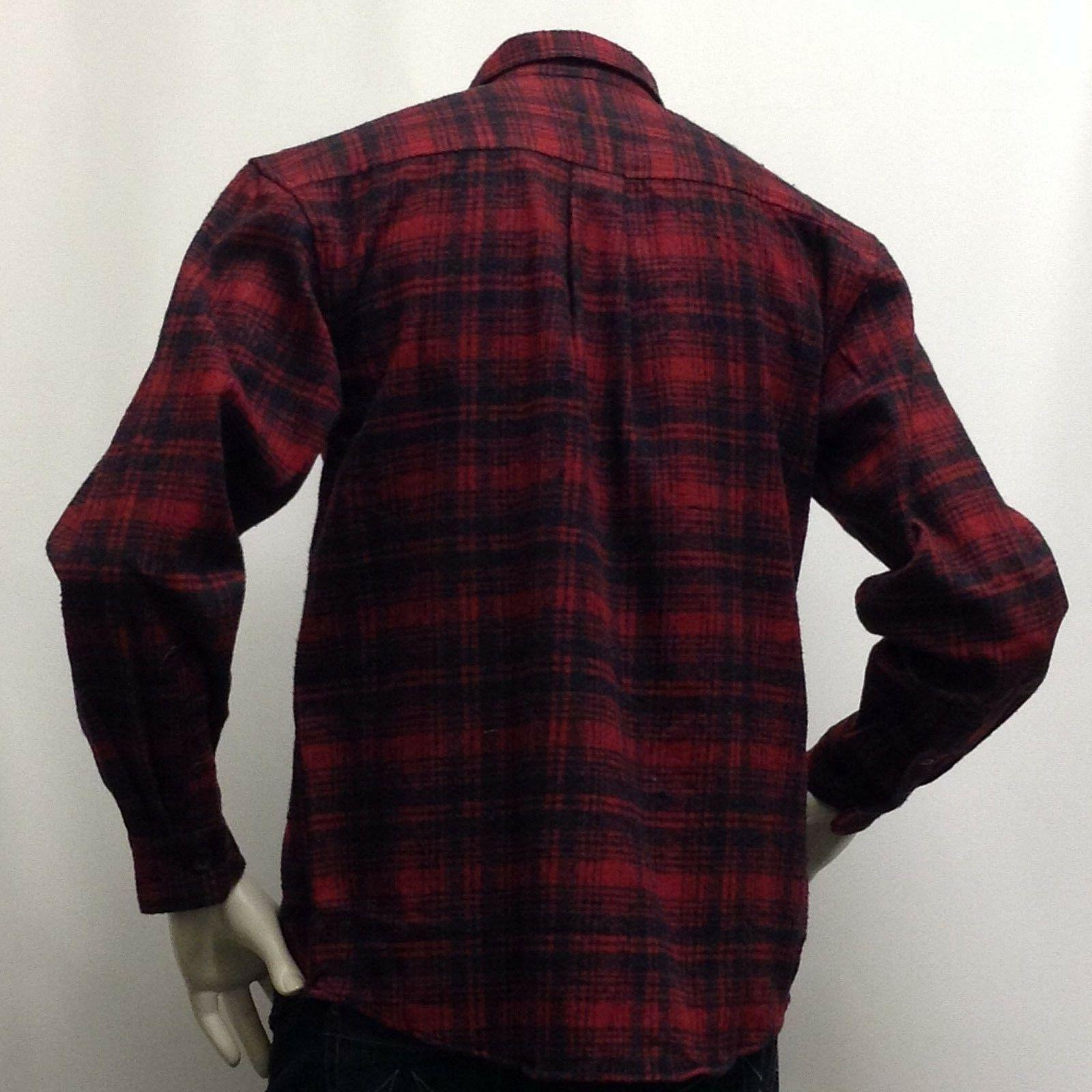 """Men's Flannel Heavy A Size 2XL """"Work Gear"""" Red &Olive"""