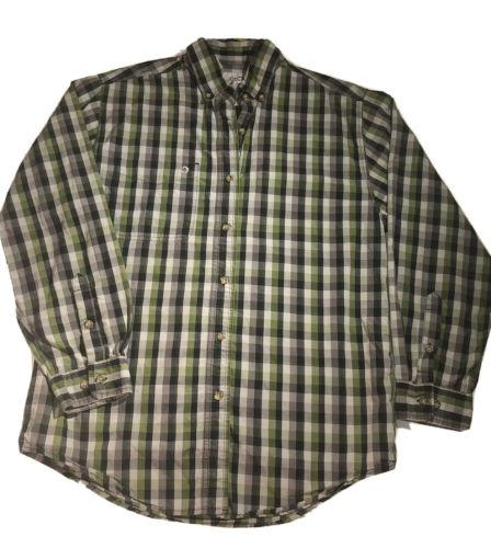 Men's Relaxed Fit Plaid Long Sleeve Button Down Flannel