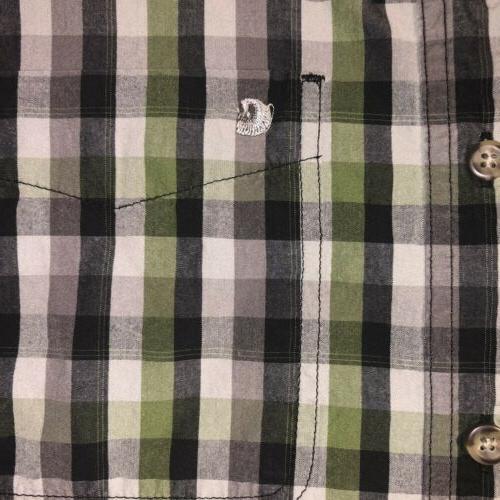 Men's Carhartt Green Relaxed Fit Plaid Long Sleeve Button Down