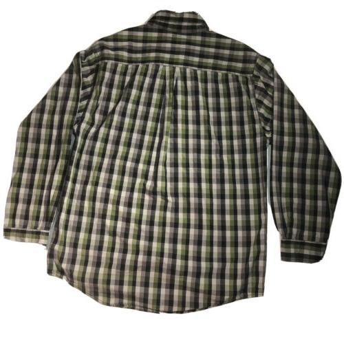 Fit Plaid Long Button Down Flannel Large