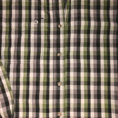 Men's Carhartt Green Fit Button Flannel
