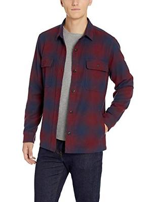 Goodthreads Men's Heavyweight Flannel Shirt Buffalo Plaid, XX-Large