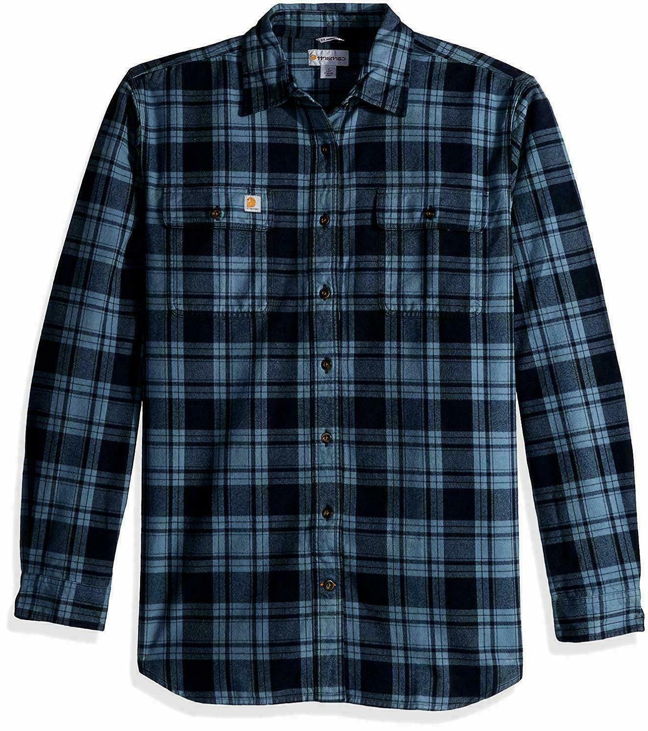 Carhartt Men's Hubbard Plaid Flannel Shirt 103348
