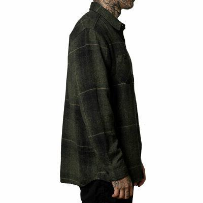 Sullen Men's Long Sleeve Black/Olive Clothing