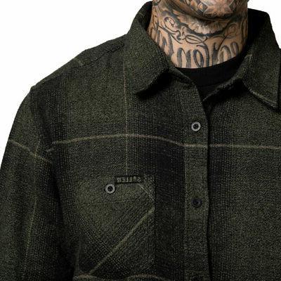 Sullen Long Sleeve Buttondown Shirts Black/Olive