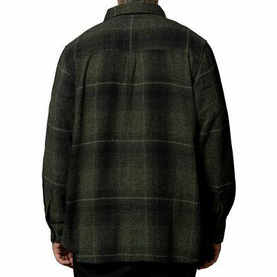 Sullen Men's Long Sleeve Buttondown Black/Olive Clothing