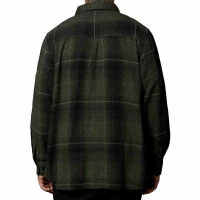 Sullen Men's Long Sleeve Buttondown Black/Olive Clothing