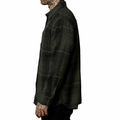 Sullen Men's Long Sleeve Black/Olive Clothing