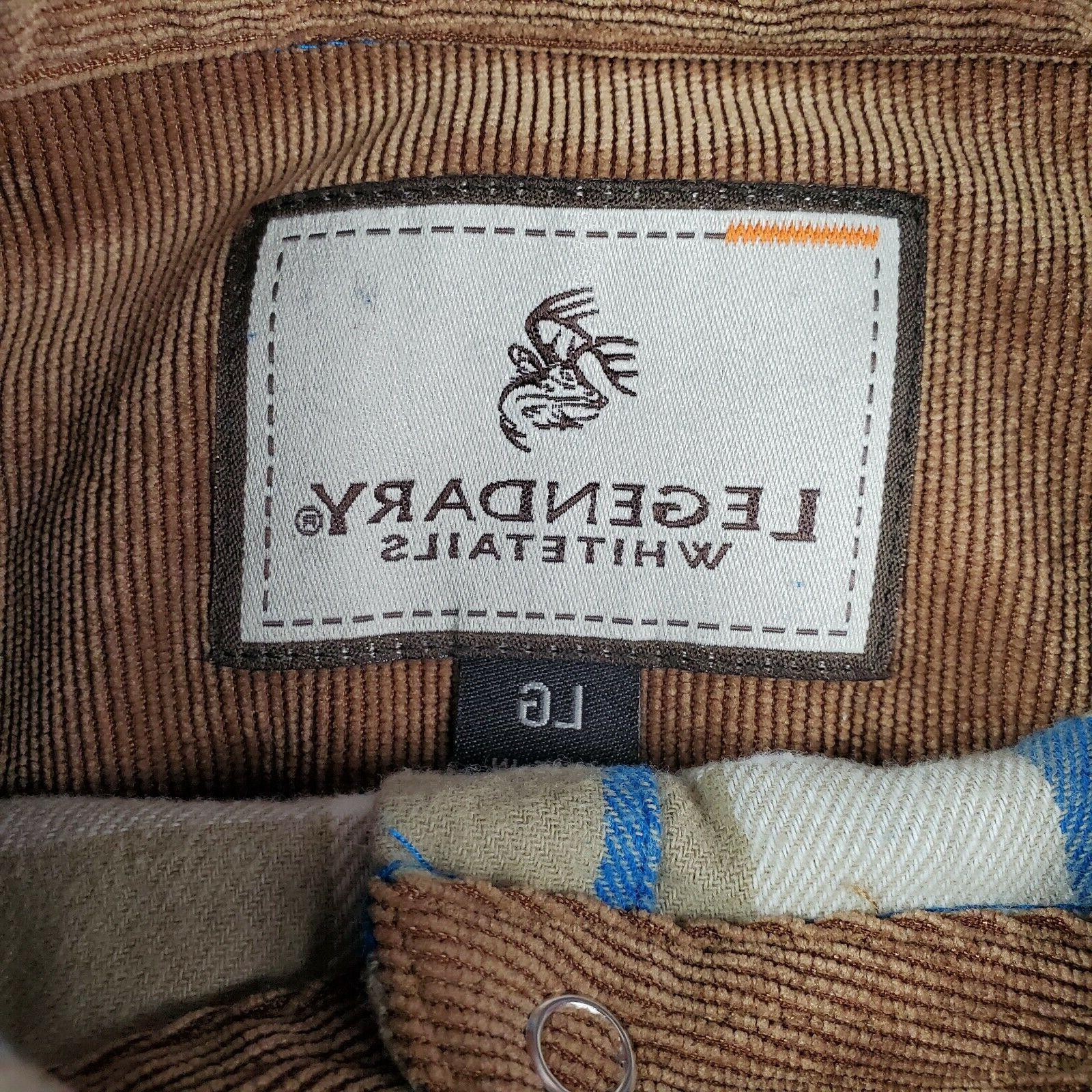 Legendary Whitetails Men's Plaid Flannel w Cord