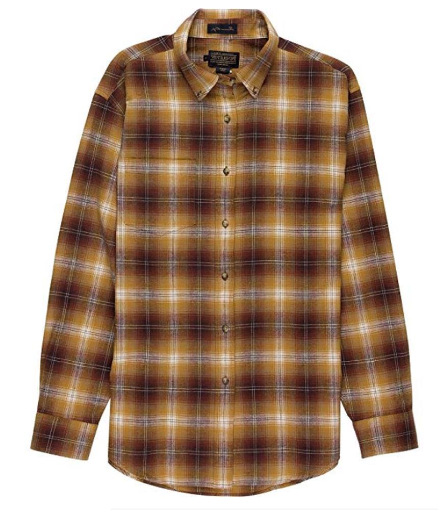 men s lister button up flannel l