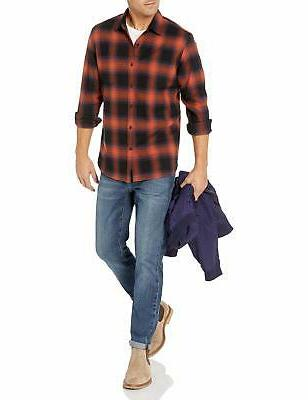 Goodthreads Long-Sleeve Flannel Shadow Plaid XXL
