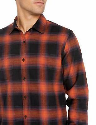 Goodthreads Flannel Shirt, Rust Shadow Plaid