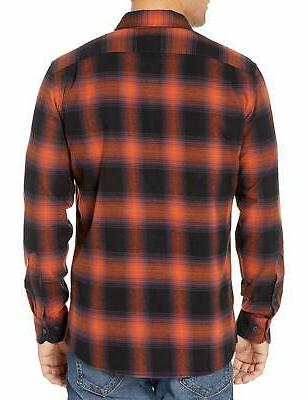 Goodthreads Men's Long-Sleeve Flannel Rust Black