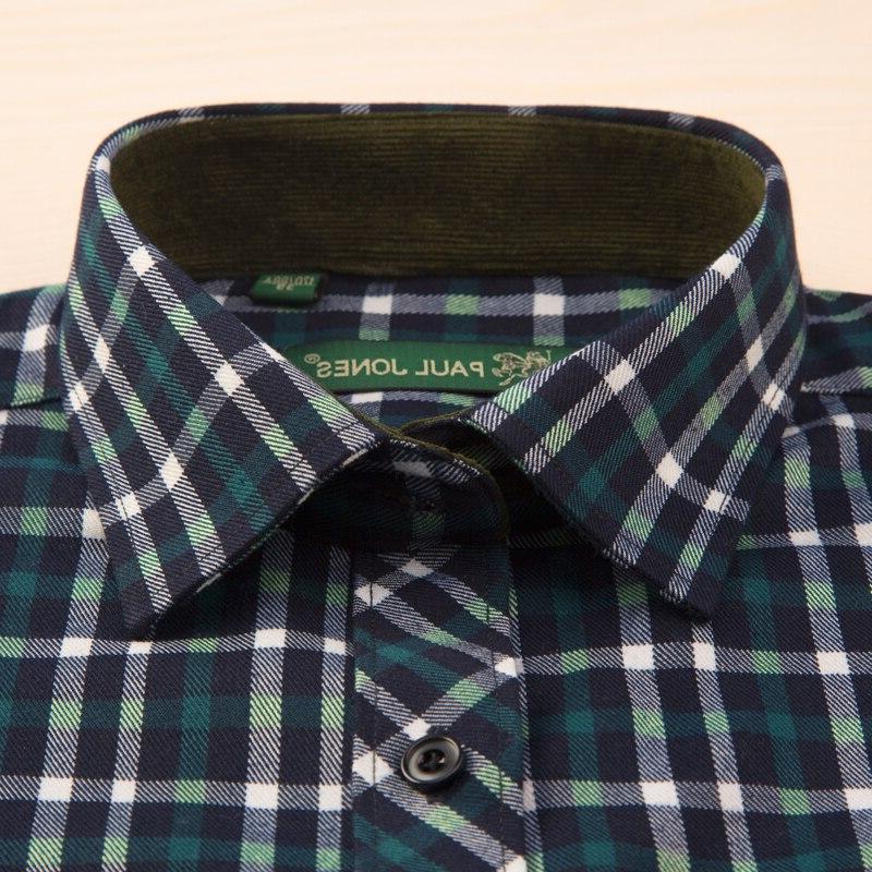 Men's Long Sleeve Brushed Plaid <font><b>Shirt</b></font> Patch Casual Tops <font><b>Shirts</b></font>