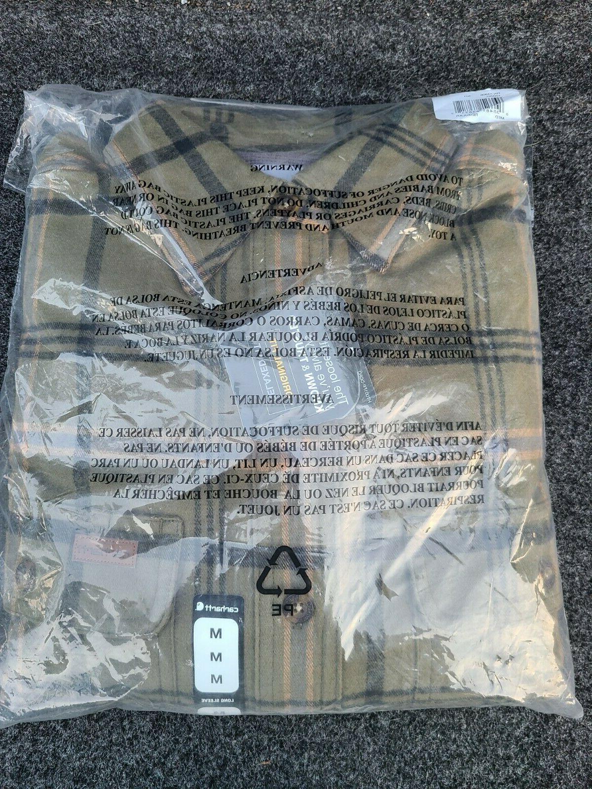 Carhartt Sleeve Cotton 100% Pocket Shirts Flannel