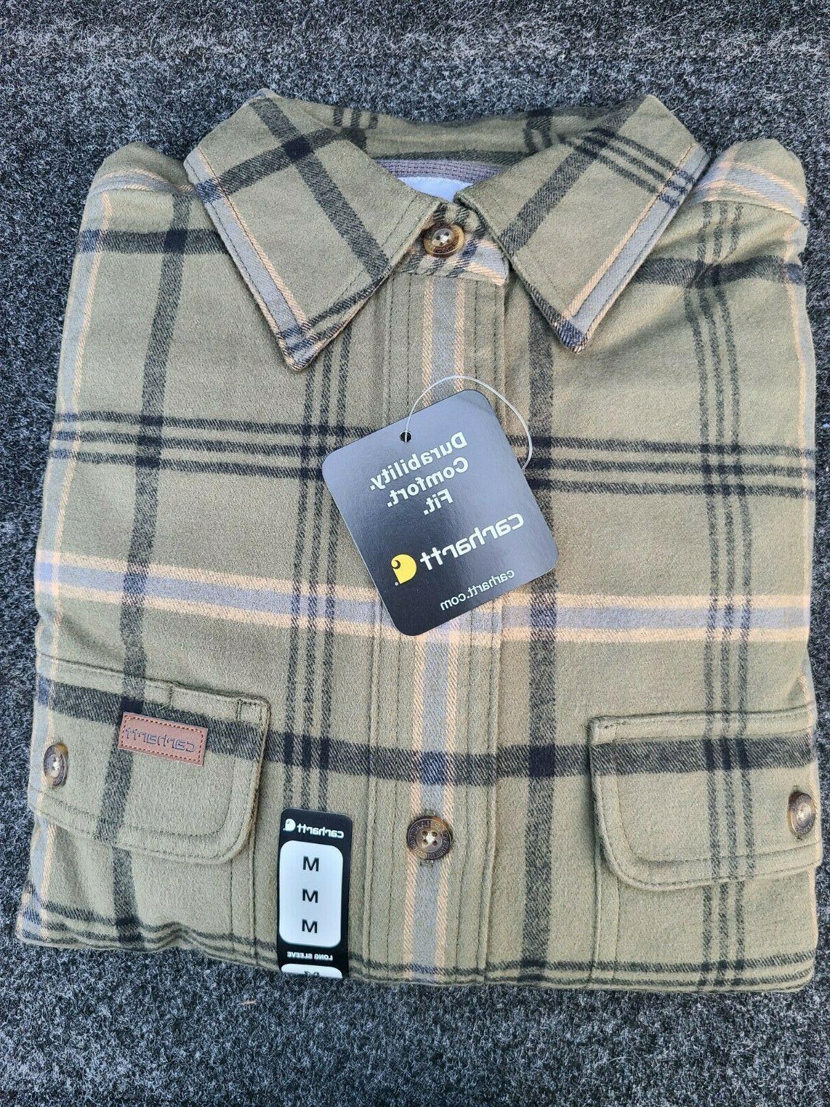 Carhartt Cotton 100% Pocket Work Shirts Flannel Size