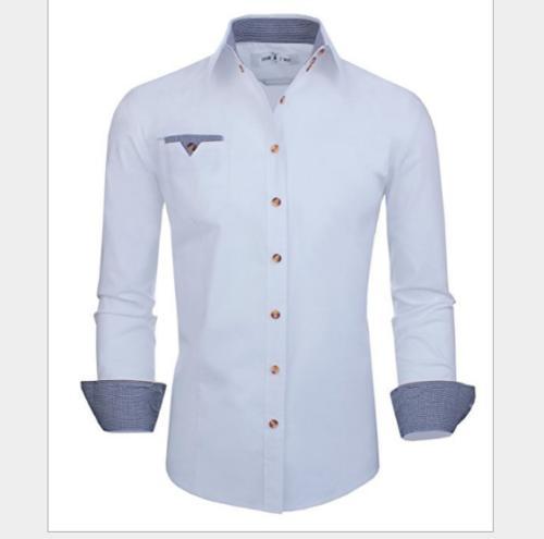 Men's Cotton Slim Button Shirts