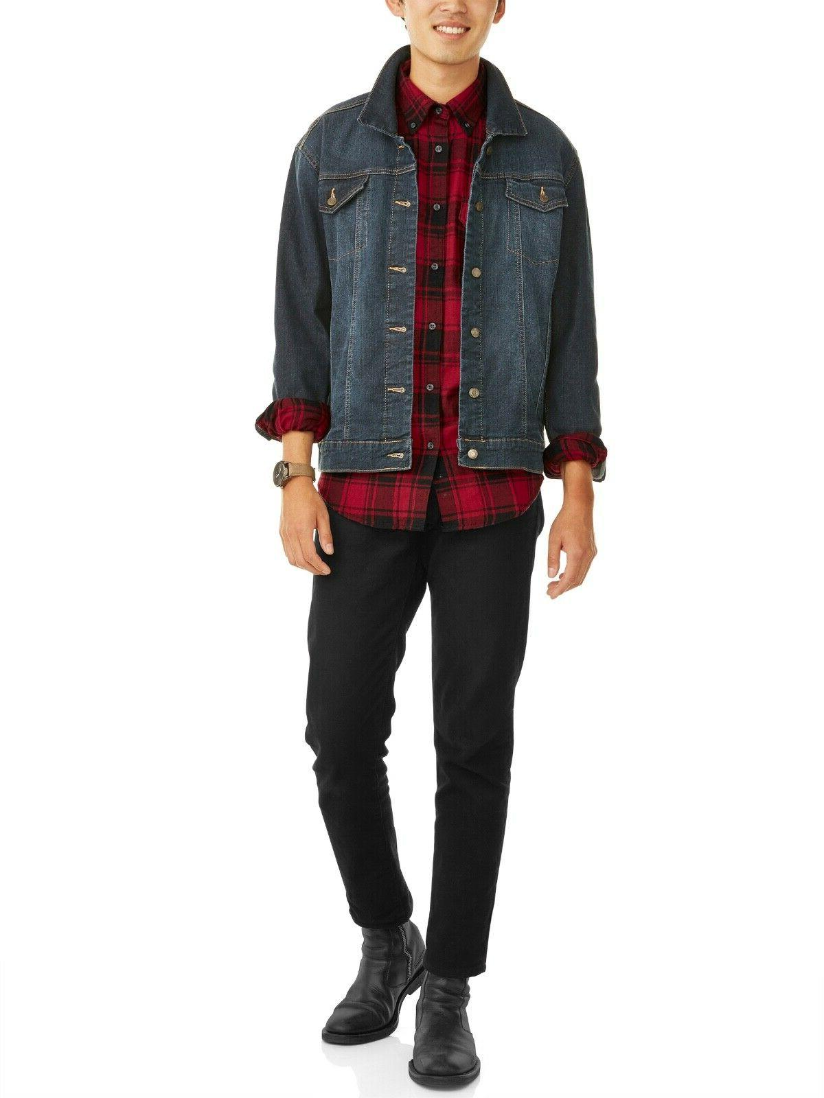 George Men's Long Flannel Shirt,