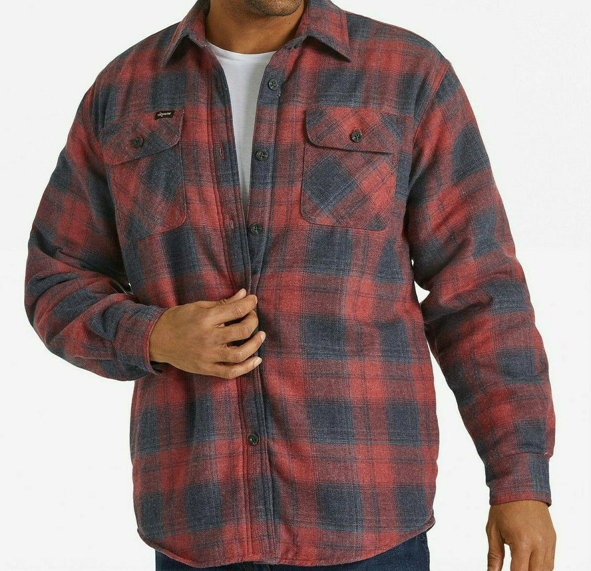 men s long sleeve plaid flannel heavyweight