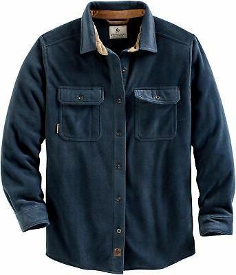 men s navigator fleece button up shirt