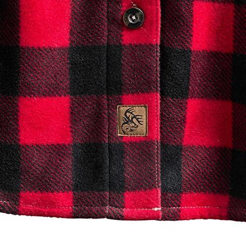 Legendary Whitetails Men's Fleece Button Shell Red Tall