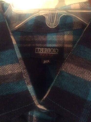 Men's Plaid Front Flannel Shirt