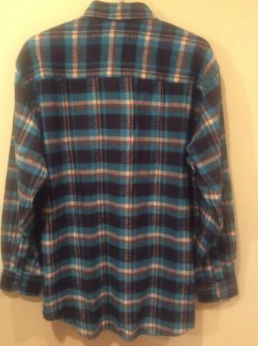 Men's Plaid LS XXL Button Front Cotton Flannel