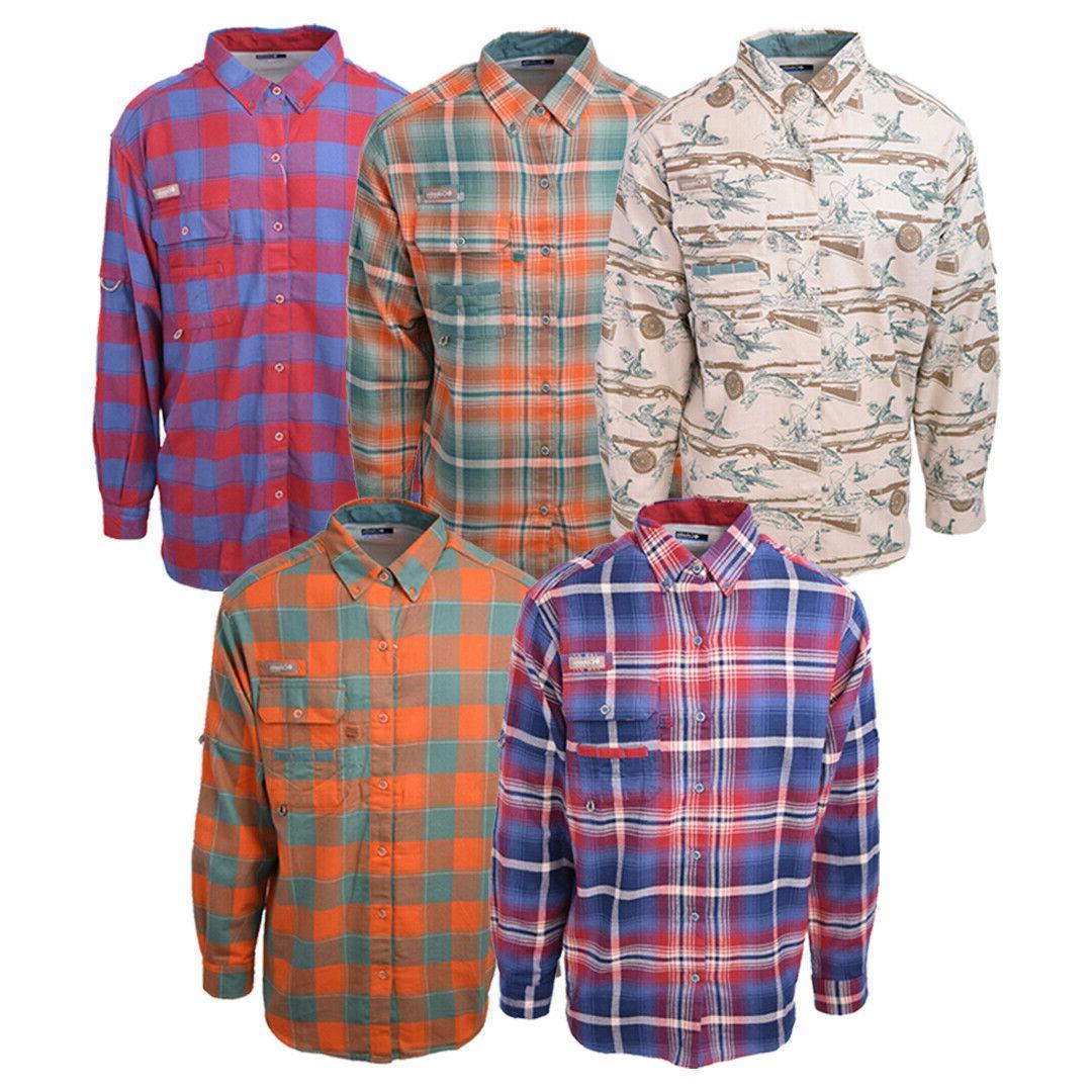 men s pfg sharptail l s flannel
