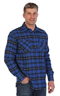 Gioberti Brushed Flannel Blue/Black/White